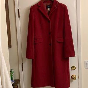 J Crew Red wool coat